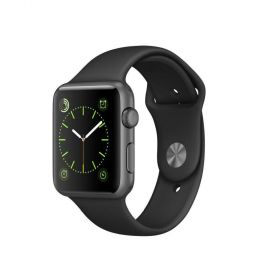 Smart Watch Apple Watch 42mm, Carcasa Stainless Steel Space Black, curea Black Sport Band