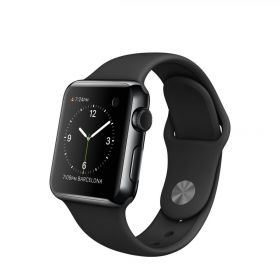 Smart Watch Apple Watch 38mm, Carcasa Stainless Steel Space Black, curea Black Sport Band