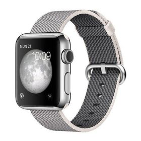 Smart Watch Apple Watch 38mm, Carcasa Stainless Steel, curea Pearl Woven Nylon