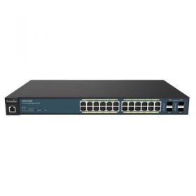 Wireless Management 50AP 24-port GbE PoE.at Switch 185W 4SFP L2 19i