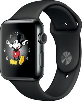 Smart Watch Apple Watch Series 2 42mm, Carcasa Aluminium Space Black, curea Space Black Sport band